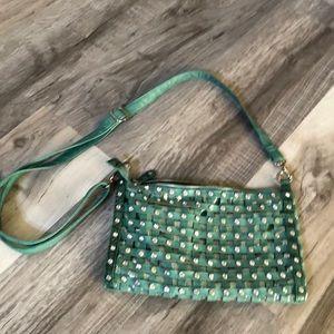 Green Faux Diamond Purse